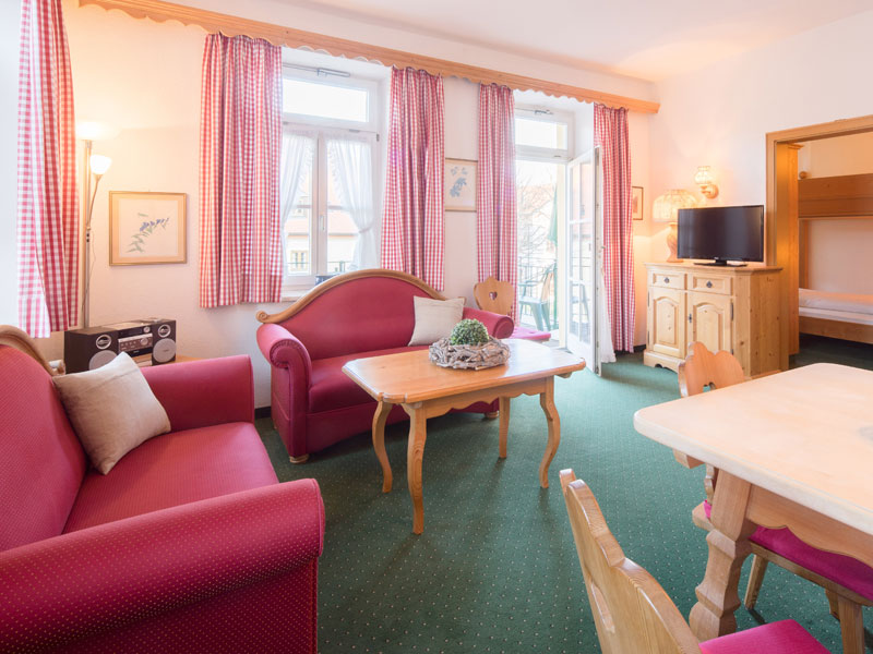 Holiday apartment 50 m² at the Hotel Ruhpoldinger Hof